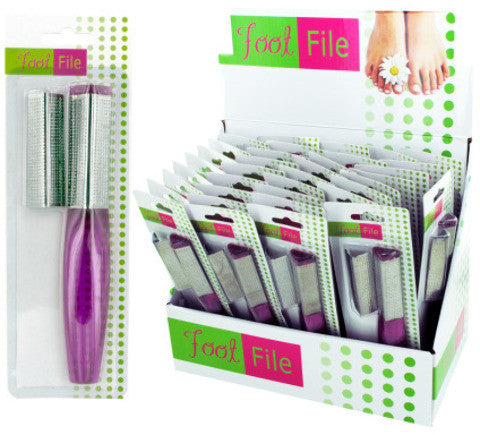 Foot File with Replacement File Countertop Display Case Pack 36