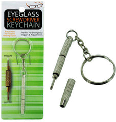 Eyeglass Screwdriver Key Chain Case Pack 24