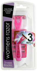 Triple Blade Women's Razor with Refills Case Pack 12