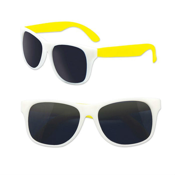 Adult Size White and Yellow Sunglasses Case Pack 300