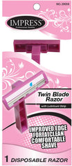New Trendy Handy Solutions 3-pack Twin Blade Razors for Women Case Pack 144 Free Shipping