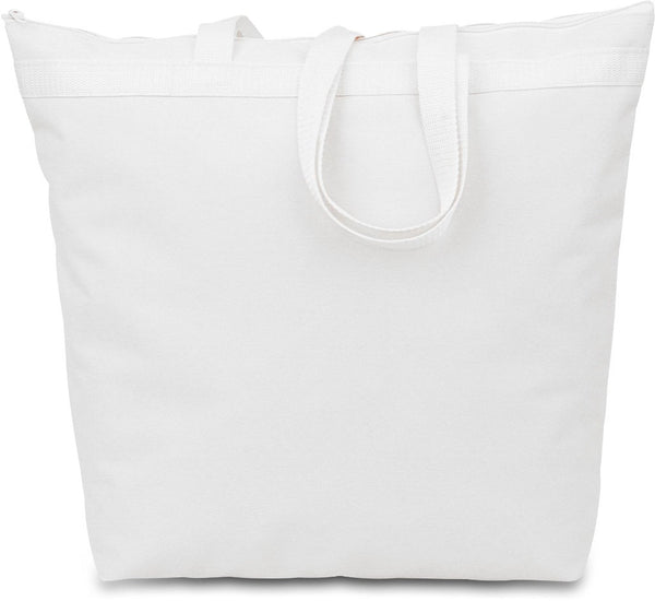 600 Denier Polyester Large Tote - White Case Pack 48