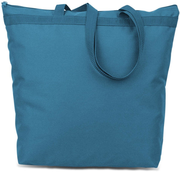 600 Denier Polyester Large Tote - Turquoise Case Pack 48