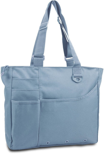 600 Denier Super Feature Tote - Light Blue Case Pack 24