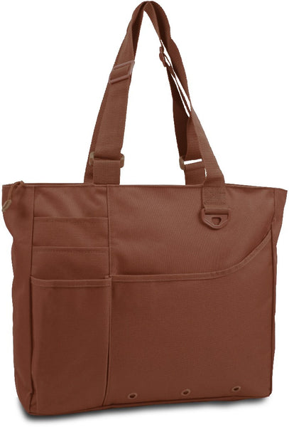 600 Denier Super Feature Tote - Brown Case Pack 24