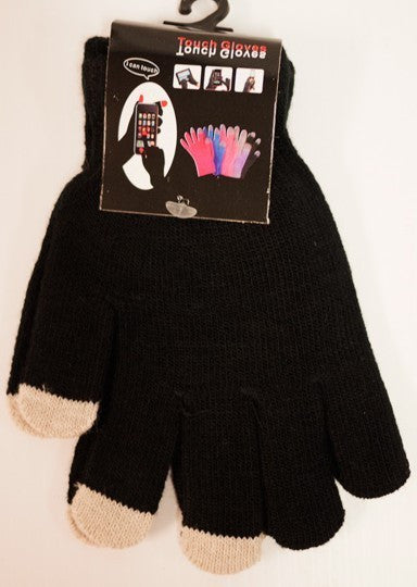 Texting Gloves Lady's Size Black Color Case Pack 48