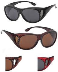 Women Fit Over Sunglasses with Rhinestone Assorted Case Pack 24