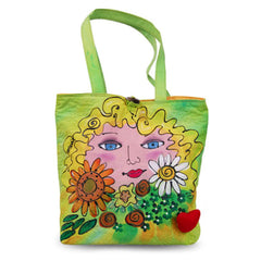 Best Seller Bright Faces Flowers Large Colorful Stylish Tote Bag