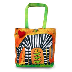 2017 New Arrival Bright Zebra Large Stylish Colorful Tote Bag for Ladies