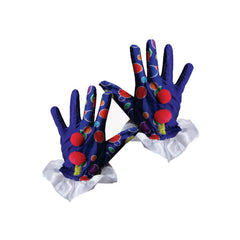 New Trendy Dress Up America Halloween 2016 Party Costume Blue Clown Gloves
