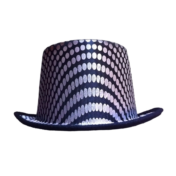 New Dress Up America Halloween 2016 Costume Silver Squared Top Hat