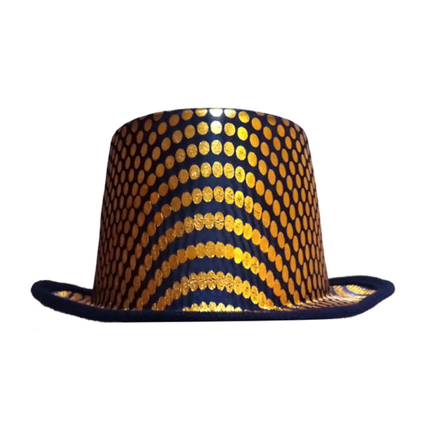Dress Up America New Arrvial Halloween 2016 Costume Gold Squared Top Hat