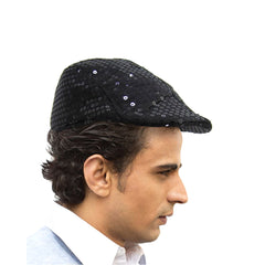 New Arrival Black Flat Cap for Men