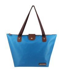 Jacki Design Essential Foldable Outdoor Travel Tote Bag (Large) - Blue