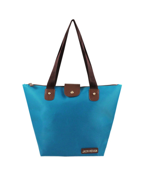 Jacki Design Essential Foldable Outdoor Travel Tote Bag (Small) - Blue