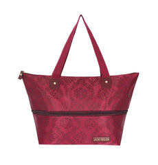 Jacki Design New Essential Expandable Outdoor Travel Tote Bag - Burgundy