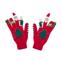 Kidorable Kids Toddler Large Christmas Gloves Red