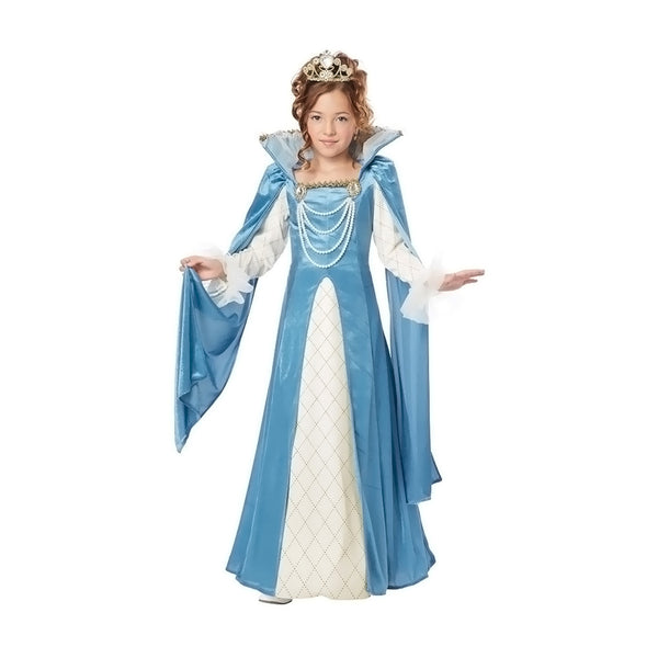 New High Quality Renaissance Queen Costume for Child Medium 8-10