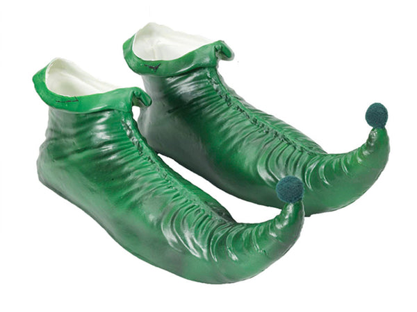 New Trendy Forum Novelties Halloween 2016 Party Creepy Scary Costume Elf Shoes Green