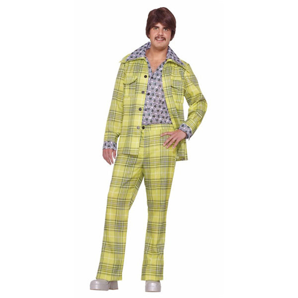 Morris Halloween 2016 Party Costume Leisure Suit 70'S Plaid for Men