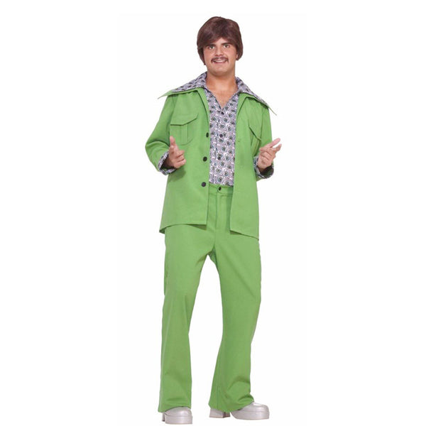 Morris Halloween 2016 Party Costume Leisure Suit 70'S Green for Men