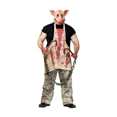 New Arrival Morris Costumes Halloween 2016 Butcher Pig Party Costume for Adult