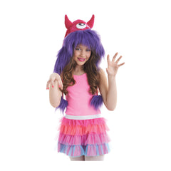 Best Seller Morris Costumes Halloween Party Costume Kit Hood Monster Pink/Purple