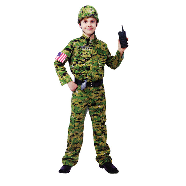 2016 New Arrival Generic Army Inftry Costume Large for Kids