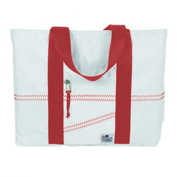 Sailorsbag Outdoor Travel Sailcloth Beach Medium Tote Red