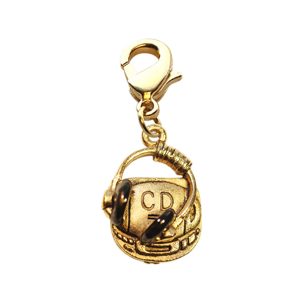 Whimsical Lockets Fashion Necklace Pendent Jewelry Cd Player And Headphone Charm Dangle In Gold