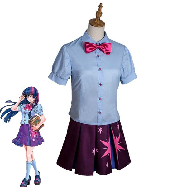 Anime My Little Pony Sparkle Cosplay Costume Girls Cute Dress Top+Skirt Halloween Carnival Uniforms Custom Made