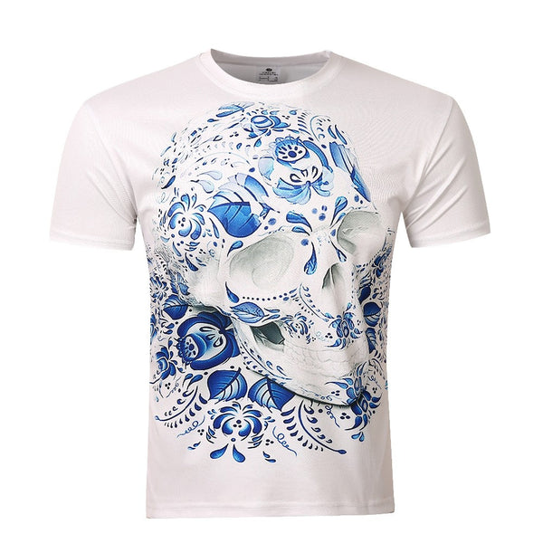 2016 new men's t-shirt skull printing summer 3D t shirt men/women fashion Tops & Tees casual t-shirts tee shirt
