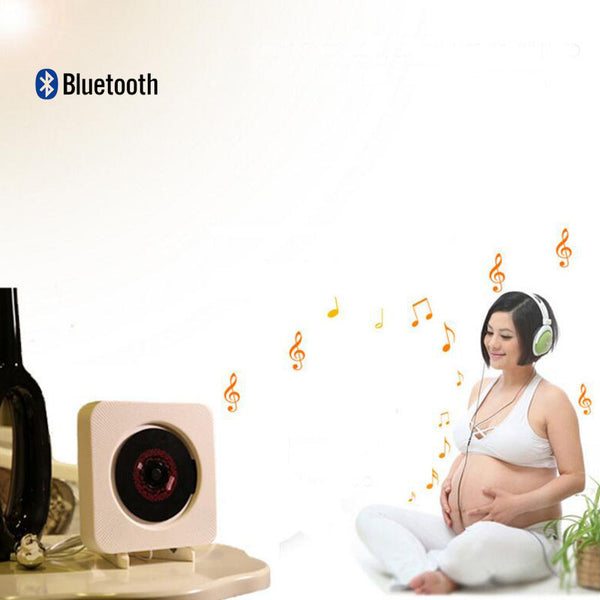 Wall-mounted CD player Bluetooth FM radio CD stereo prenatal fidelity digital amplifier Free Shipping