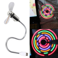 New Portable Mini USB2.0 Cool Fan with 5 Color LED Light Switchable For Laptop/Notebook/Desktop Computer High Quality