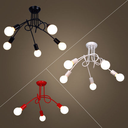 Free shipping Simple Creative Black & white E27 ceiling lamp vintage personality modern brief led ceiling light