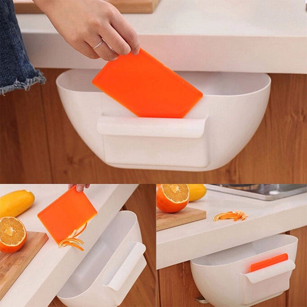 2016 Brand New Cute Home Kitchen Cabinet Trash Storage Box Organizers Garbage Holder Portable Hanging Storage Box