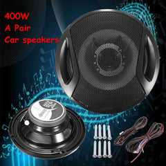 Universal A Pair 6 Inch 12V 400W Car Subwoofer Max Iron Plastic 2-Way 2 Voice Coaxial Audio Car Speakers Car Sound