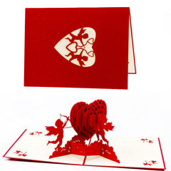 3D Pop Up Handmade Cards Cupid Heart Valentine Anniversary Birthday Christmas-Y103