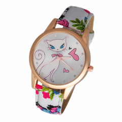 2015 New Fashion Cute watches Women and Children Favor cat Cartoon watches Casual quartz wristWatches For LOVERS Gift CN0692-3
