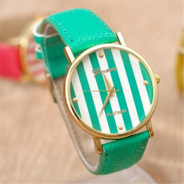 Creative 2015  Fashion Watch for Ladies Dress Quartz Watches New Arrival Casual Green Watch