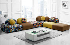 U-BEST Hot sell Fabric sectional sofa set,living room section sofa, colorfull sofa,fashion design
