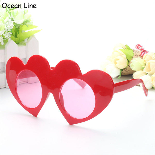 Lovely Red Loving Heart Decorated Glasses Wedding Favors Valentines Day Love Props Costume Accessories Party Supplies Decoration