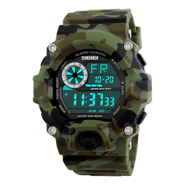 SKMEI Army Camouflage led military wrist watches men relojes digital sports watches relogio masculino esportivo s shock clock