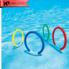 4PCS/Lot Dive Ring Swimming Pool Accessory Toy Swimming Aid for Children Water Play Sport Diving Beach Summer Toy Kids Pool Fun