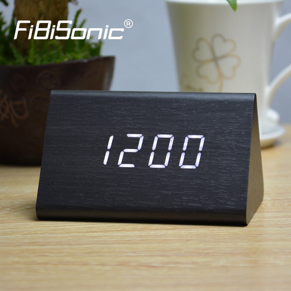 FiBiSonic Europe Smile Alarm Clocks,Digital Clock calendars temperature ,Battery/plug power/LED display