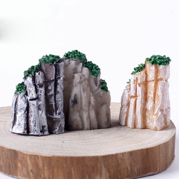 5 PCS/Set Mini Mountain MiniatureToys Bonsai Ornaments Plant Gardening Garden Accessories Natural Resin Home Decorative