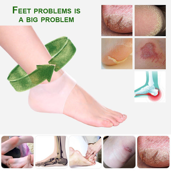 Hot Sale Foot Care Top Fashion Silica Gel Heel Protective Crack Socks Feet Sleeve Heel Repair Pad Health Monitors Massager