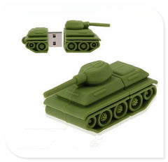 Green mini Tanks USB Flash 2.0 Memory Drive Stick Pen/Thumb/Car Wholesale 2GB-64GB  S175