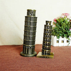 Italy Leaning Tower of Pisa Electroplating Tourist souvenirs home decoration accessories	resin crafts Two sizes are available