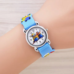 2017 Hot Selling Cheap cartoon watch Silicon Children Kid's Watch 3D Cartoon Despicable me minions relogio masculino Sport Watch